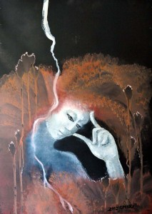 1. Thinker, 70x50 cm, oil